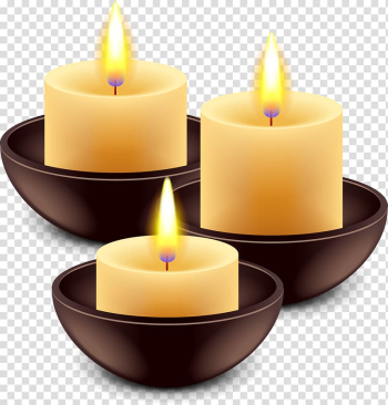 Three votive candles, Candle Flame, Hand-painted candles transparent background PNG clipart png image transparent background