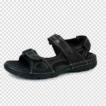Slipper Sandal Shoe Leather Flip-flops, Black sandals transparent background PNG clipart png image transparent background