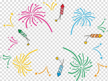 Fireworks New Years Day, color fireworks transparent background PNG clipart png image transparent background