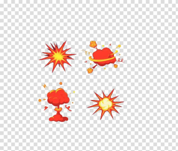 Explosion Cartoon Bomb Illustration, Hand-painted explosion effect transparent background PNG clipart png image transparent background