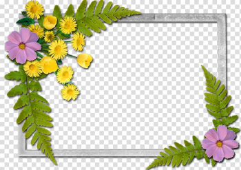 Frames Flower A Butterfly, flowers frame transparent background PNG clipart png image transparent background