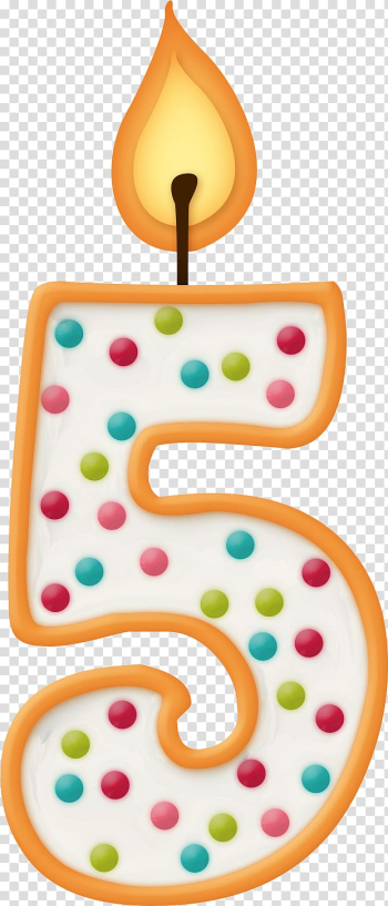 Number 5 birthday cake candle, Birthday Personal identification number Candle Anniversary, 5 Word Creative Word transparent background PNG clipart png image transparent background