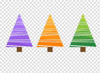 Christmas tree Illustration, Simple colored Christmas tree transparent background PNG clipart png image transparent background