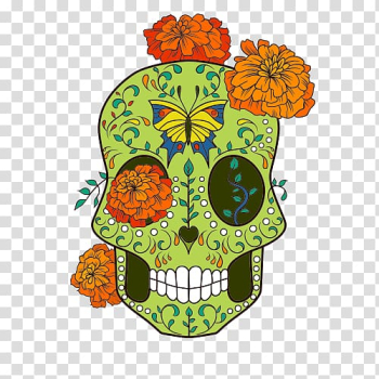 Calavera T-shirt Wedding invitation Day of the Dead Skull, skull apparel printing transparent background PNG clipart png image transparent background
