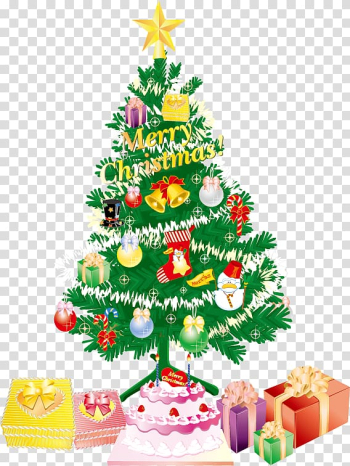 Christmas tree Christmas decoration Christmas ornament Iron-on, Christmas tree covered with gifts transparent background PNG clipart png image transparent background