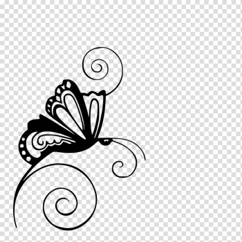 Butterfly Silhouette Stencil , fancy line transparent background PNG clipart png image transparent background