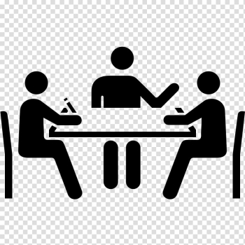 Three people conversing , Meeting Computer Icons Conference Centre Convention Business, Meeting transparent background PNG clipart png image transparent background