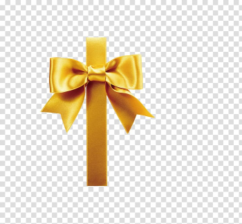 Gift wrapping Ribbon , Gold bowknot ribbon decoration transparent background PNG clipart png image transparent background