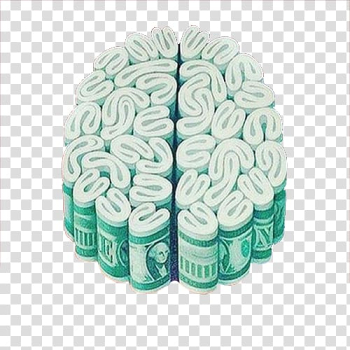 Brain Money Investment Drawing Painting, Money combination of brain flower transparent background PNG clipart png image transparent background