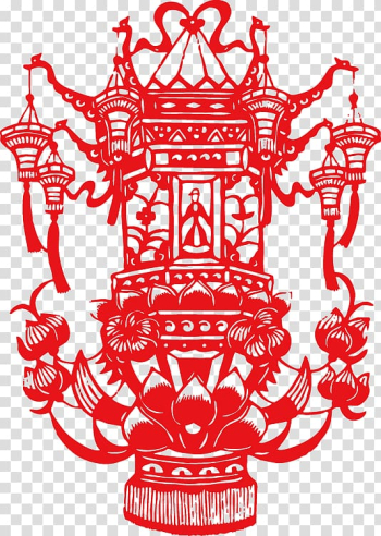 Papercutting Lantern Festival Chinese New Year Mid-Autumn Festival, Chinese New Year Lantern lantern transparent background PNG clipart png image transparent background