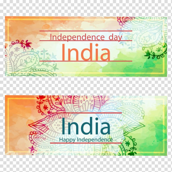India Web banner, India\'s Independence Day banners Drawing transparent background PNG clipart png image transparent background