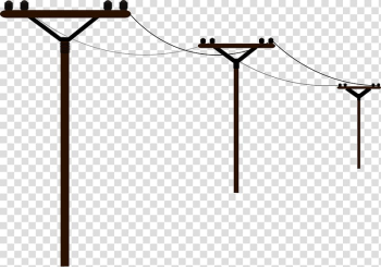 Overhead power line Electric power Electricity , pole transparent background PNG clipart png image transparent background