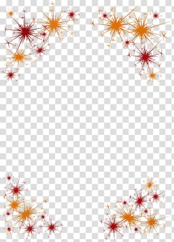 Borders and Frames New Year\'s Eve New Year\'s Day , Fireworks Border transparent background PNG clipart png image transparent background