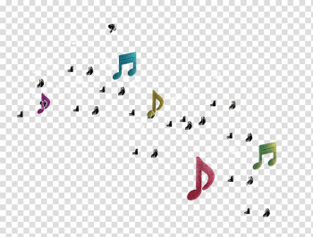 Musical note Graphic design, Real estate notes color poster elements transparent background PNG clipart png image transparent background