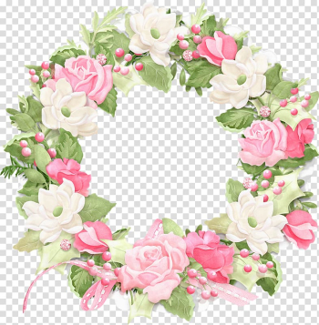White and pink flower wreath illustration, Rose Flower Wreath , Rose ring transparent background PNG clipart png image transparent background