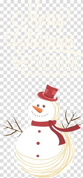 Poster Christmas Illustration, Christmas and snowman transparent background PNG clipart png image transparent background
