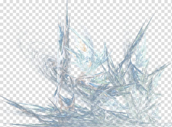 Blue ice Transparency and translucency , cartoon hand-painted effect creative light effect transparent background PNG clipart png image transparent background