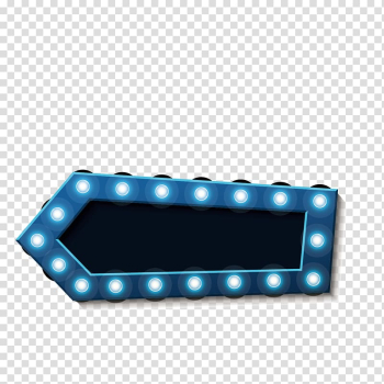 Blue and white vanity lights, Arrow, pattern material neon lamp beads transparent background PNG clipart png image transparent background