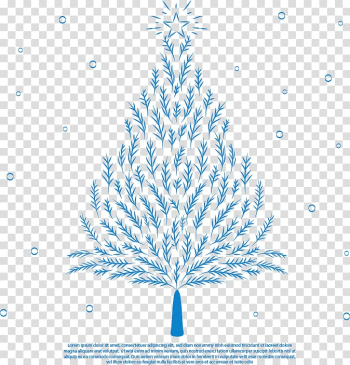 Spruce Christmas tree Drawing, Romantic hand-painted blue Christmas tree transparent background PNG clipart png image transparent background