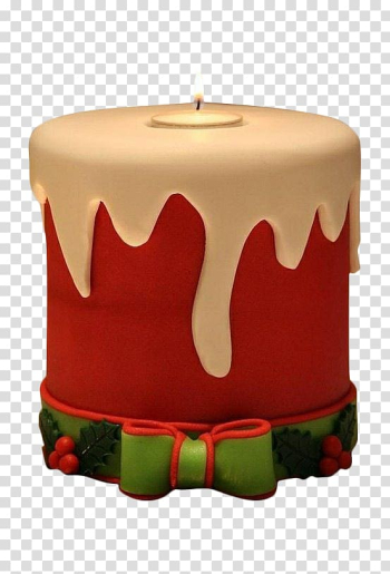 Christmas cake Birthday cake Mousse Candle, Christmas cake candle transparent background PNG clipart png image transparent background