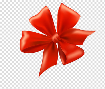 Ribbon Bow and arrow Gift , Decorative festive red ribbon transparent background PNG clipart png image transparent background