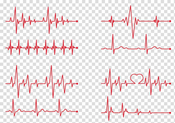 Red lifeline illustration collage, Heart rate Electrocardiography , ECG red line Creative transparent background PNG clipart png image transparent background