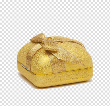 Paper Box Gift Packaging and labeling, Golden Gift transparent background PNG clipart png image transparent background