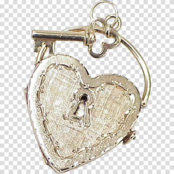 Locket Charms & Pendants Jewellery Heart Key, gold heart transparent background PNG clipart png image transparent background