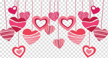 Pink heart hanging decor , Wedding invitation Valentine\'s Day Greeting & Note Cards Heart, happy valentines day transparent background PNG clipart png image transparent background