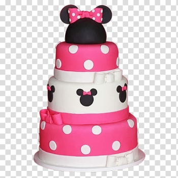 Minnie Mouse Birthday cake Mickey Mouse Party, First birthday transparent background PNG clipart png image transparent background