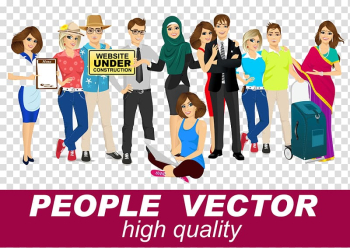 Illustration, Colored cartoon creative business people buckle Free HD transparent background PNG clipart png image transparent background