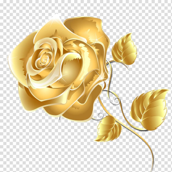 Gold rose flower , Flower Fashion Free Games Online Rose Android application package, Gold flowers transparent background PNG clipart png image transparent background