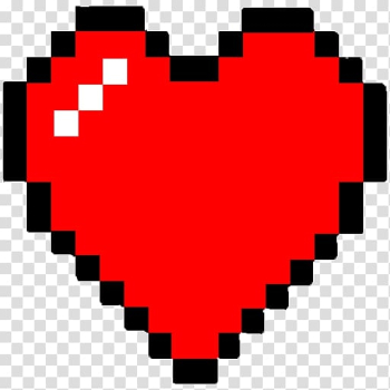 Red heart illustration, Pixel art Minecraft, Minecraft transparent background PNG clipart png image transparent background