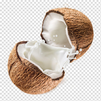 Sliced coconut, Coconut milk powder Coconut water, Milky white coconut juice transparent background PNG clipart png image transparent background