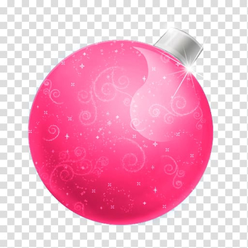 Christmas ornament Computer Icons Free , Pink Christmas Ball transparent background PNG clipart png image transparent background