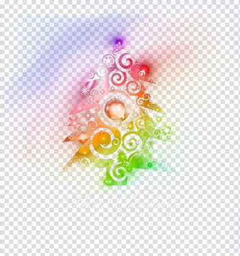 Light Christmas tree, Colored Christmas tree decoration transparent background PNG clipart png image transparent background