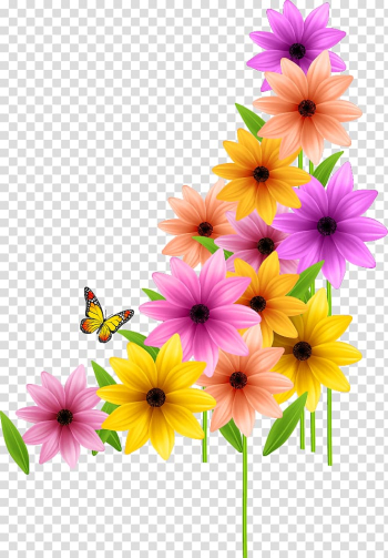 Orange, yellow, and pink flower , Flower Spring , Wedding Color Flowers transparent background PNG clipart png image transparent background