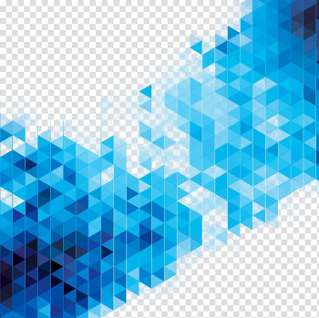 Abstract art Blue Geometry illustration, Science fiction elements design background, pixilated transparent background PNG clipart png image transparent background