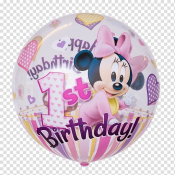 Minnie Mouse Toy balloon Birthday, ballon birthday transparent background PNG clipart png image transparent background
