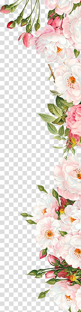 Pink flowers Wedding invitation, rose, white and pink roses border template transparent background PNG clipart png image transparent background