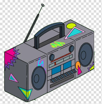 Boombox 1980s Animation , summer decoration box transparent background PNG clipart png image transparent background