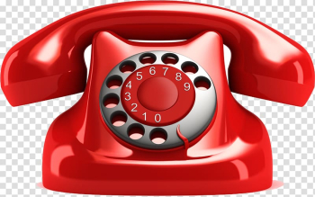 Red rotary phone illustration, Telephone call Telephone number Telephone line Ringing, others transparent background PNG clipart png image transparent background