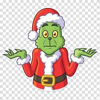Telegram Grinch Sticker Christmas tree , christmas tree transparent background PNG clipart png image transparent background