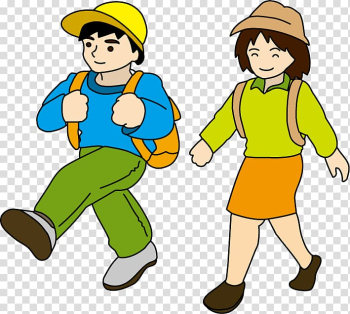 Hiking Recreation 天城トンネル , old couple transparent background PNG clipart png image transparent background