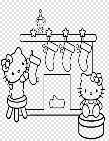 Coloring book Hello Kitty Christmas Child Drawing, christmas transparent background PNG clipart png image transparent background