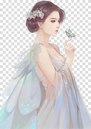 Fairy illustration, Painting Drawing Anime Art, painting transparent background PNG clipart png image transparent background