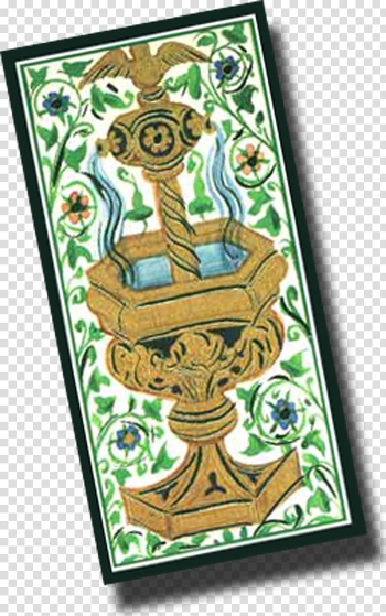 Visconti-Sforza tarot deck Ace of Cups Playing card House of Visconti, hand painted mid-autumn transparent background PNG clipart png image transparent background