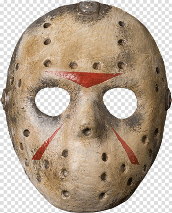 Jayson mask, Jason Voorhees Friday the 13th Goaltender mask Costume, mask transparent background PNG clipart png image transparent background
