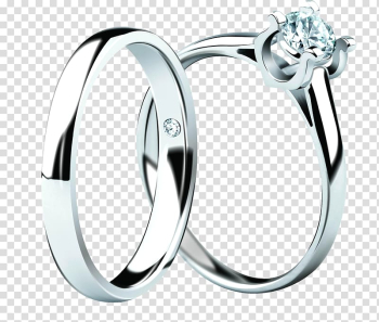 Two silver-colored rings , Wedding ring Silver Marriage proposal, Ring transparent background PNG clipart png image transparent background