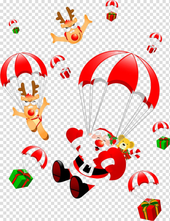 Santa Claus Christmas , Hand-painted Christmas ornaments with presents transparent background PNG clipart png image transparent background